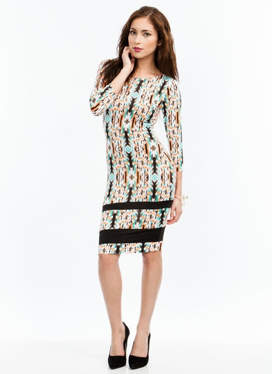 Tribe Jive Tapestry Print Midi Dress