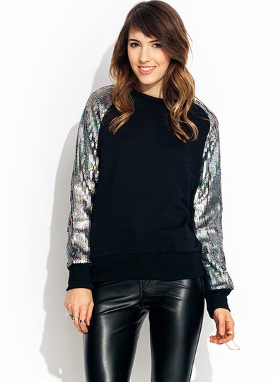 Trim Ur Scales Sequin Sweatshirt