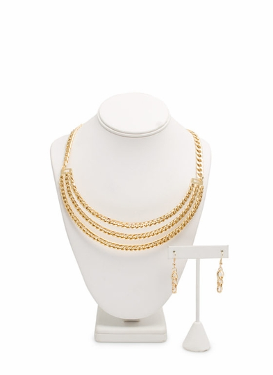 Triple Chain Necklace Set