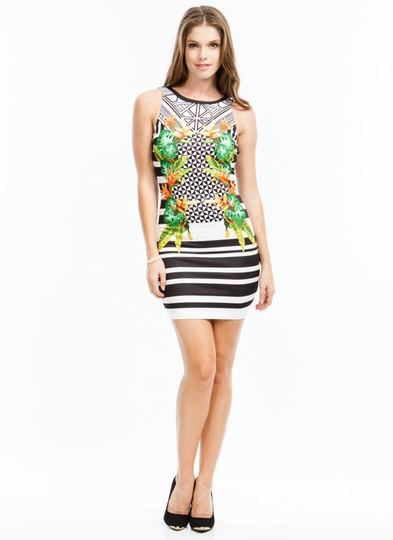 Tropical Dream Bodycon Dress