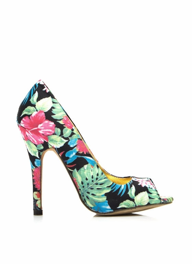 Tropical Zone Peep-Toe Heels