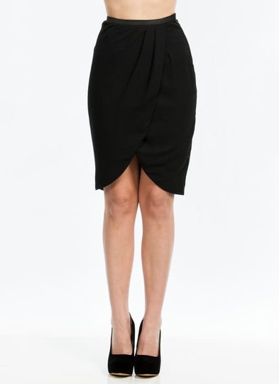 Tulip Petal Draped Skirt