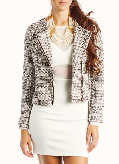 Tweed Moto Jacket