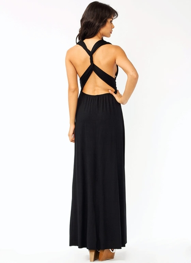 Twist Back Maxi Dress