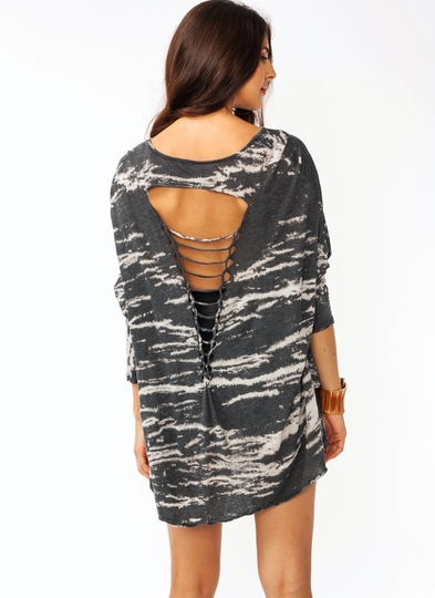 Twisted Batwing Top