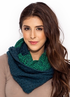 Two Infinity Knit Scarf