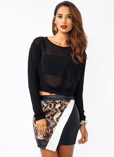 Two Of A Kind Contrast Top