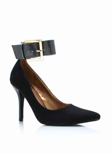 Two-Tone Giant Buckle Pumps