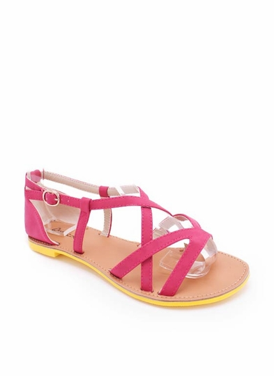 Two Tone Gladiator Sandal