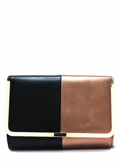 Two-Tone Glossy Clutch