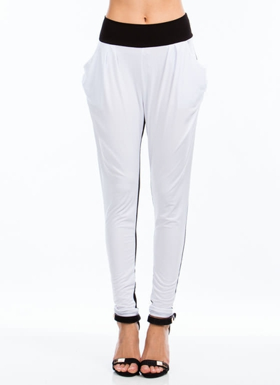 Two-Tone Harem Pants
