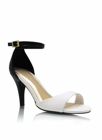 Two-Tone Up Single-Sole Heels
