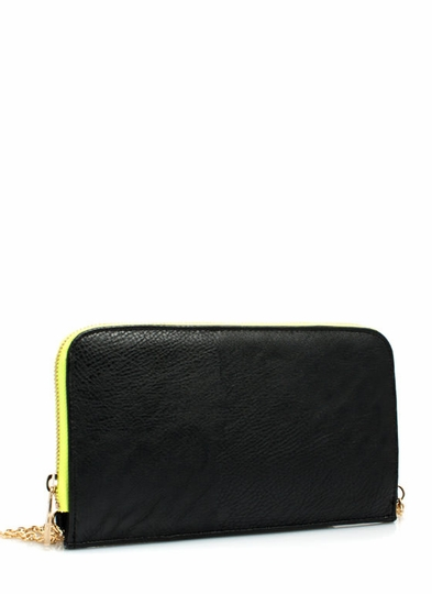 Two-Tone Wallet Clutch