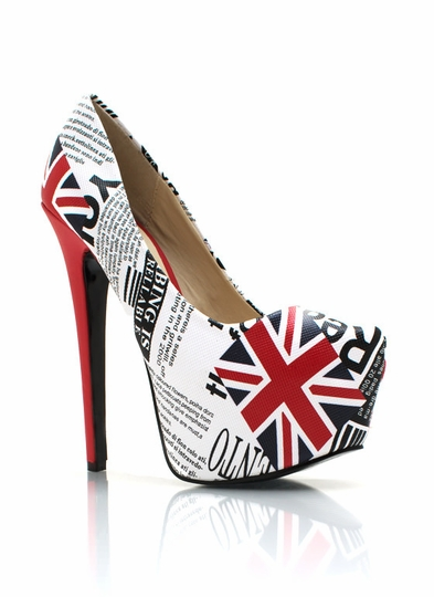 Union Jack Newsprint Pumps