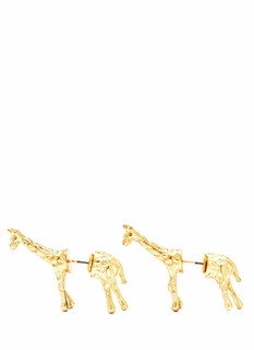 Untamed Giraffe Faux Plug Earrings