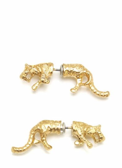 Untamed Tiger Earrings