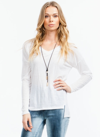 V Basic High-Low Top