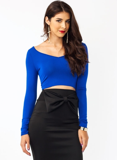 V-Neck Tie Back Top