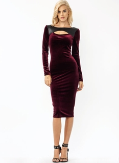 Velvety Soft Mixed Midi Dress