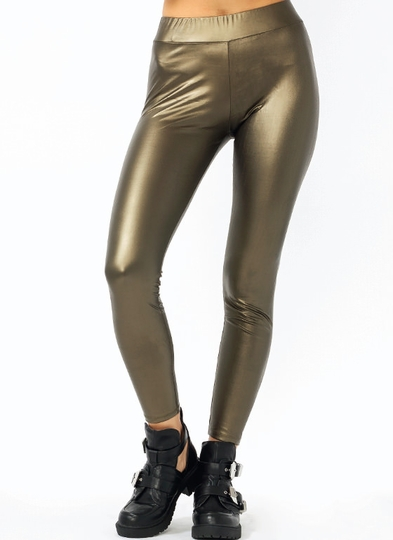 Vinyl Ankle Length Leggings