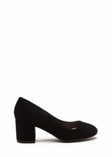 Walk For Miles Chunky Faux Nubuck Pumps