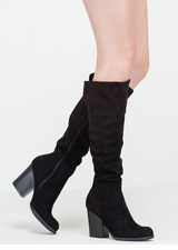 Warm Welcome Chunky Faux Suede Boots