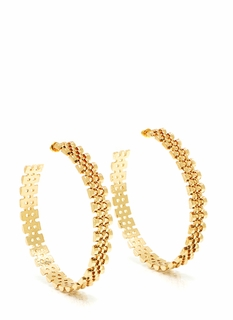 Watch This Link Hoop Earrings