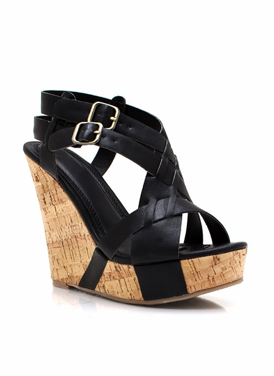 Wave Hello Strappy Wedges