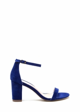 Weekend Outing Faux Suede Chunky Heels