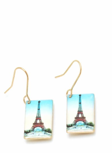 When In Paris Postcard Earrings