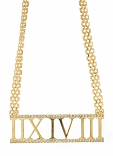 When In Rome Numeral Necklace