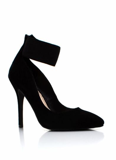 Wide Ankle Strap Pumps