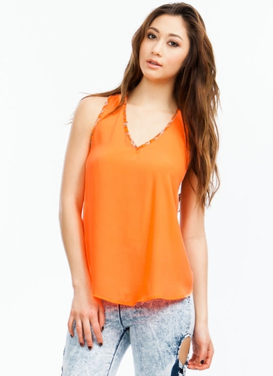 Wild Animal Surplice Back Tank