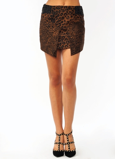 Wild Cat Studded Skirt