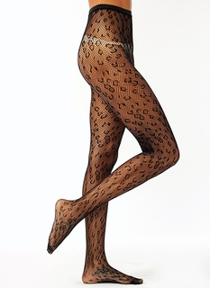 Wild Child Leopard Fishnet Stockings