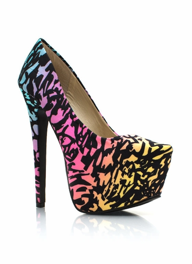 Wild Child Rainbow Pumps