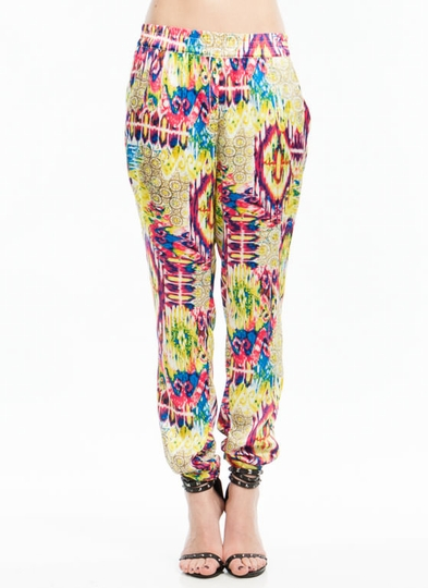 Winning Streak Mixed Print Trousers