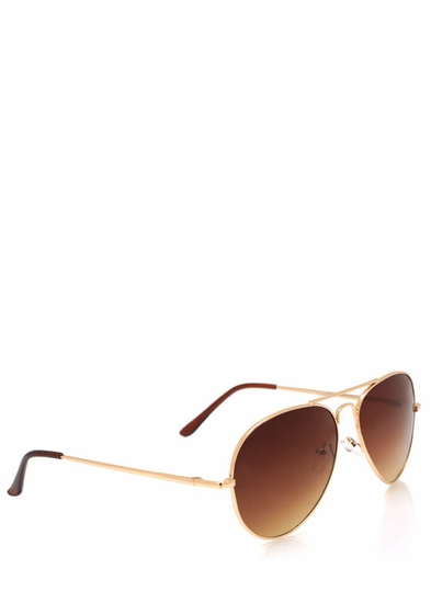 Wire Frame Aviator Sunglasses