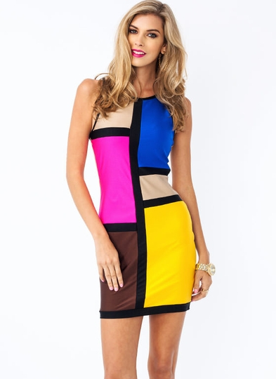 Work Of Art Colorblock Dress
