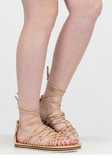 World Traveler Knotted Lace-Up Sandals