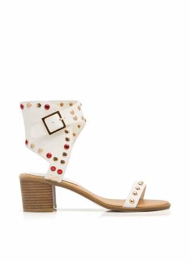 Wrap Genius Studded Jeweled Sandals