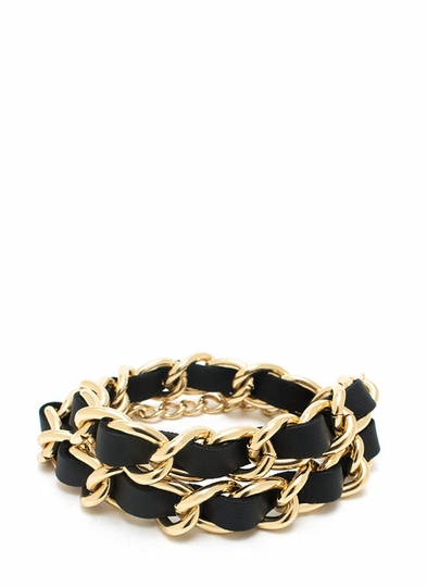 Wrap Star Faux Leather Bracelet