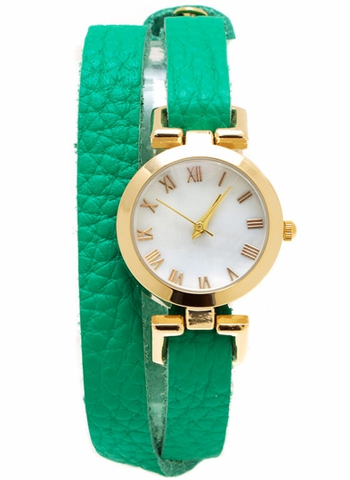 Wraparound Faux Leather Watch