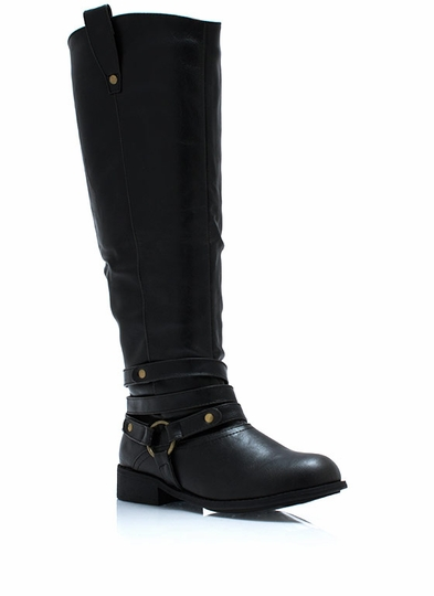 Wraparound Harness Riding Boots