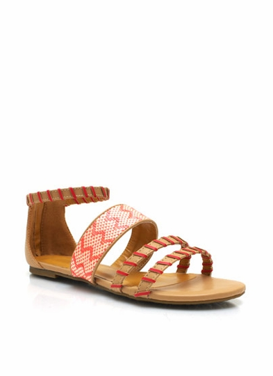 Wrapped And Woven Strappy Sandals