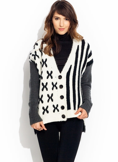 X And Stripes Cardigan