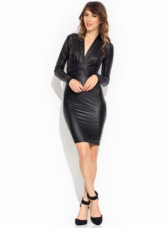 X Appeal Plunging Midi Dress