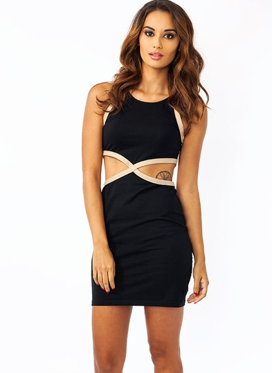 X Factor Cut-Out Mini Dress