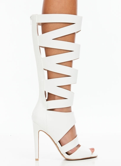 X Marks the Spot Gladiator Heels