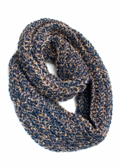 Yarn Knitted Infinity Scarf